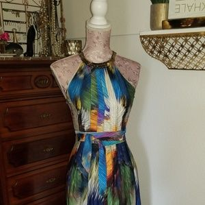 Multi colored gown